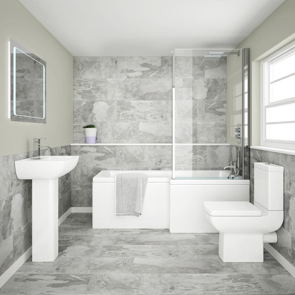 Grado Grey Porcelain Wallfloor Tile D1 City Bathrooms