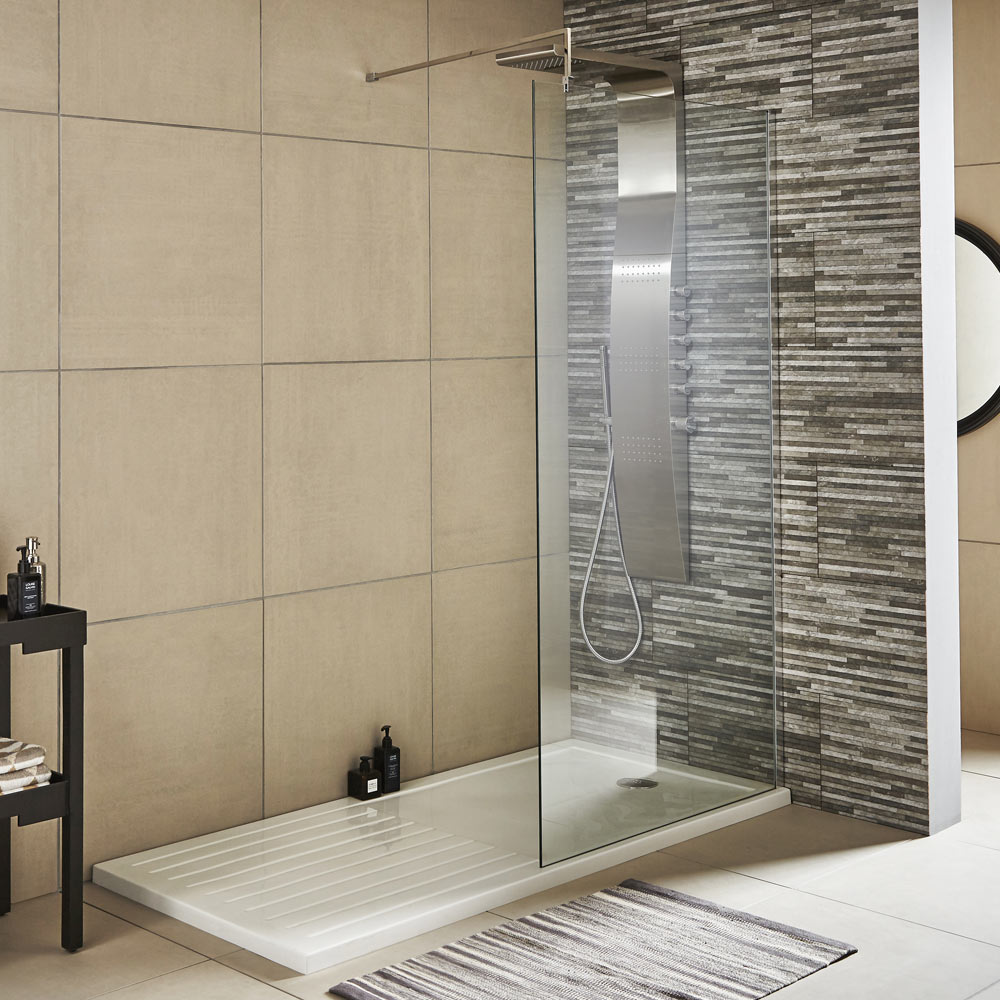 Premier wetroom screen lrg city bathrooms for Wet room shower tray for vinyl