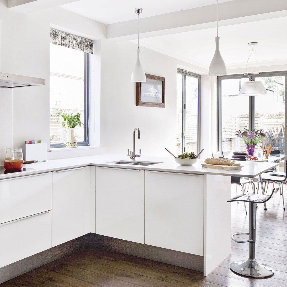 White-modern-kitchen-extension-idea