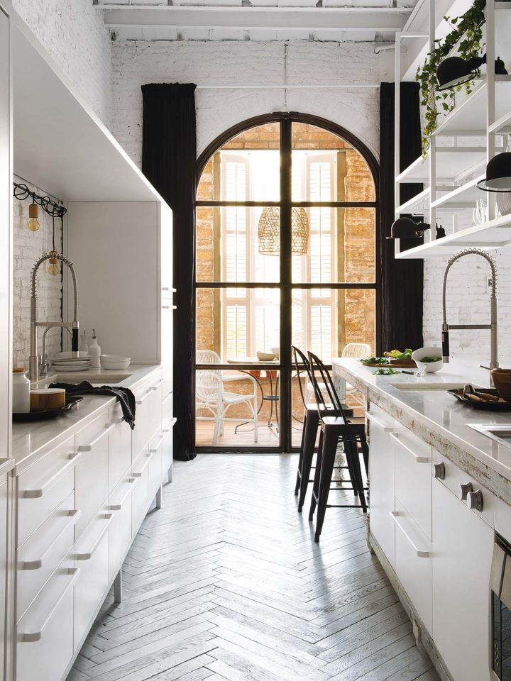 best colors for galley kitchens